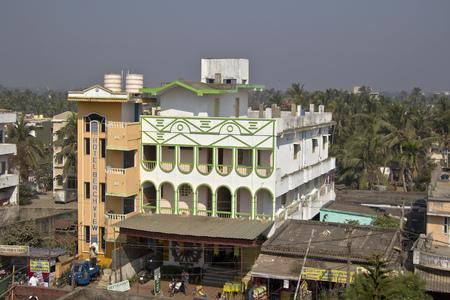 puri: FEBRUARY 5, 2014, PURI, ORISSA, INDIA - Hotel Beach View at Chakratirtha road in Puri Editorial