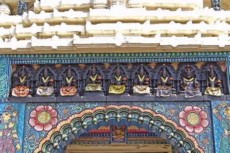 deities: Deities over the gate of ancient Gundicha temple in Puri