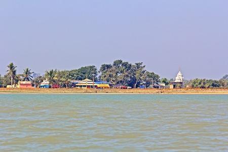 chilika: Hindu temples on the bank of Chilika lake, Orissa