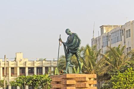 puri: FEBRUARY 8, 2014, PURI, ORISSA, INDIA - Munument of Mahatma Gandhi in Gandi Park