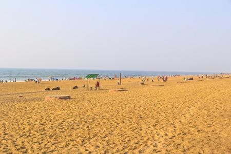 puri: FEBRUARY 8, 2014, PURI, ORISSA, INDIA - View of Puri beach