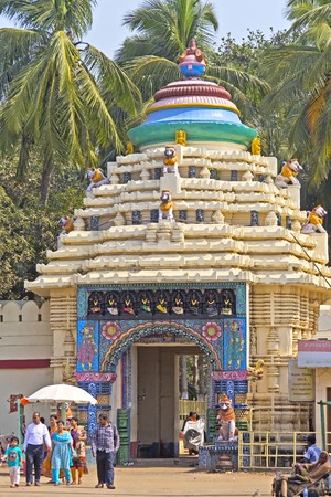 puri: FEBRUARY 8, 2014, PURI, ORISSA, INDIA - Ancient Gundicha temple in Puri During the Ratha-yatra festival deities of Lord Jagannath, Baladev and Subhadra stays in this famous temple 9 days. Editorial