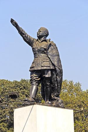 freedom fighter: Monument of Netaji Subhash Chandra Bose, famous Indian freedom fighter