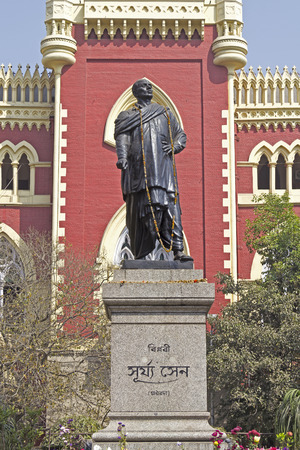 calcutta: Monument of Surya Sen, freedom fighter executed by the british administration in front of High Court