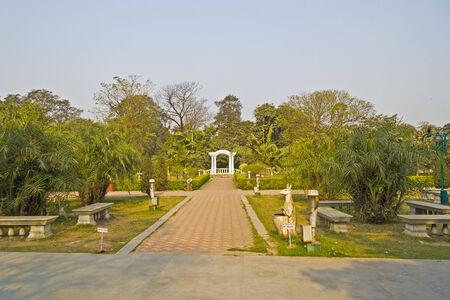 elliot: FEB 10, 2014, CALCUTTA, WEST BENGAL, INDIA - Elliot Park in central part of Calcutta