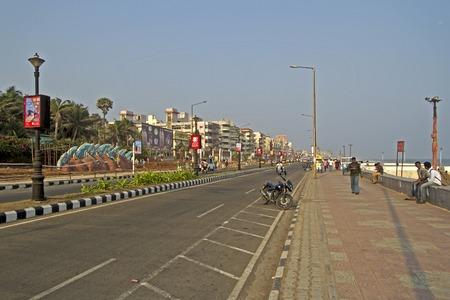 andhra: FEBRUARY 11,  2014, VISHAKHAPATNAM, ANDHRA PRADESH, INDIA - Ramakrishna beach road Editorial