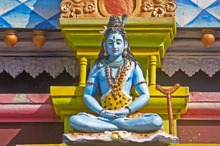 andhra: FEBRUARY 12, 2014, VISHAKHAPATNAM, ANDHRA PRADESH, INDIA - Sculpture of Lord Shiva on the wall of the temple at the top of mountain Kailasagiri Editorial