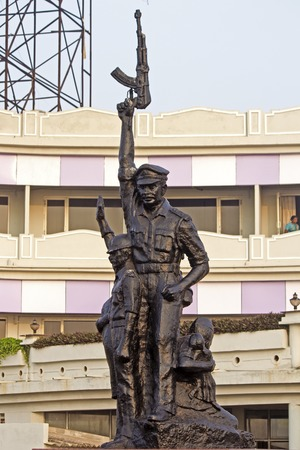 monument in india: FEBRUARY 13, VISHAKHAPATNAM, ANDHRA PRADESH, INDIA - Monument ofindian police Editorial
