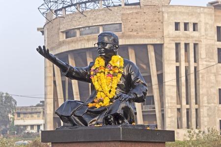 monument in india: FEBRUARY 13, VISHAKHAPATNAM, ANDHRA PRADESH, INDIA - monument of Ghantasala. Ghantasala (1921-77) was the popular poet, musician, singer and actor