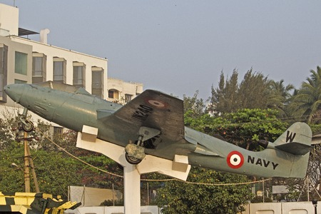 andhra: FEBRUARY 13, VISHAKHAPATNAM, ANDHRA PRADESH, INDIA - Airplain of the Indian Navy, part of the memorial of the Victory at Sea. War at Sea was the part of conflict between India and Pakistan in 1971 Editorial