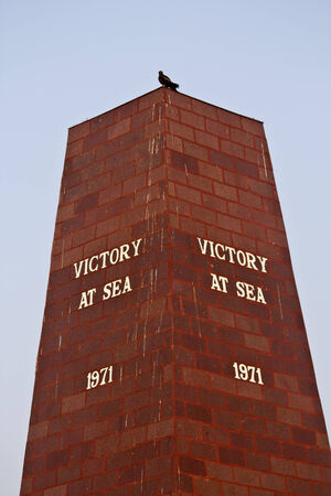 monument in india: FEBRUARY 13, VISHAKHAPATNAM, ANDHRA PRADESH, INDIA - Monument of the Victory at Sea. War at Sea was the part of conflict between India and Pakistan in 1971