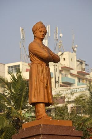 andhra: FEBRUARY 13, VISHAKHAPATNAM, ANDHRA PRADESH, INDIA - Monument of Swami Vivekananda close to Ramakrishna mission.  Vivekananda (1863-1902) was the famous philosopher, preacher, wandering monk Editorial