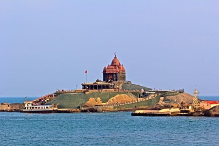 Memorial of Swami Vivekatatnda at the rocky island in Kanyakumari