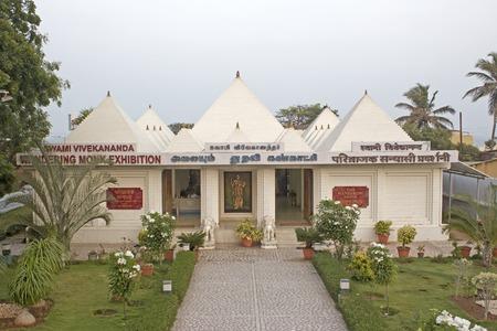 wandering: FEBRUARY 16, 2014, KANYAKUMARI, TAMIL NADU, INDIA - Museum of the Wandering Monk, Swami Vivekananda in Kanyakumari