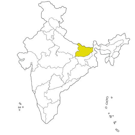 bihar: North-eastern state Bihar on the map of India