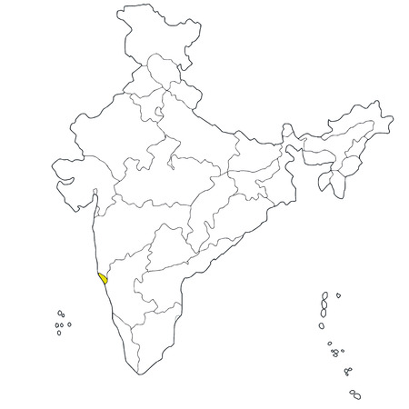 western state: Western state Goa on the map of India