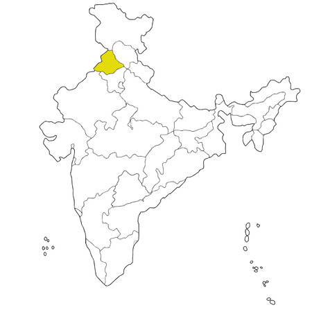 northwestern: North-western state Punjab on the map of India