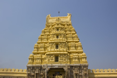 vishnu: Famous temple of Lord Vishnu Ranganatha Swami, Shrirangapatnam, Kerla Stock Photo