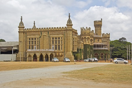 maharaja: FEBRUARY 25, 2014, BANGALORE, INDIA - Famous Bangalore palace. This palace was built in 19th century Editorial