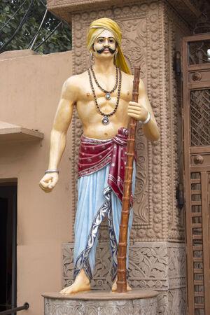 birthplace: FEBRUARY 28, 2014, MATHURA, UTTAR PRADESH, INDIA -Detail of the gates of Krishna Janma Bhumi, temple complex on the birthplace of Lord Krishna Editorial