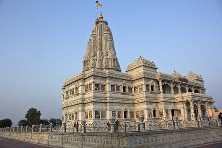 prem: MARCH 2, 2014, VRINDAVAN, UTTAR-PRADESH, INDIA - Prem Mandir or Temple of Love in Vrindavan