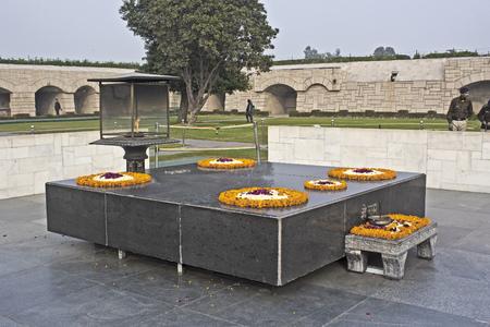 mahatma: JANUARY 20, 2015, NEW DELHI, INDIA - Mahatma Gandhi memorial at Rajghat
