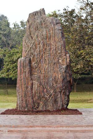 shakti: JANUARY 20, 2015, NEW DELHI, INDIA - Shakti Sthal, monument on th burning place of Indira Gandhi at Rajghat