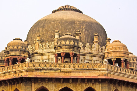 shah: Detail of the Muhammad Shah mausoleum in the Lodhi Gardens, New Delhi