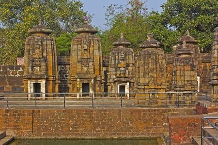 sagar: Group of the Hindu temples at Shoshi Ghat on the bank of the sacred lake Bindu Sagar or Bindu Sarovar