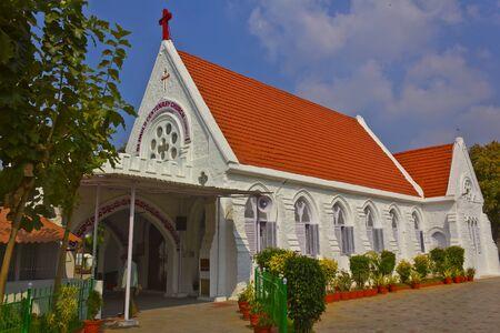 protestant: INDIA - Protestant church in Vijayawada Stock Photo