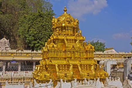 andhra: Kanakadurga, or The Golden Durga temple, in Vijayawada, Andhra Pradesh