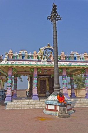 indian village:  INDIA - Little Hindu temple of the God Shiva in the South Indian village Uppalapadu