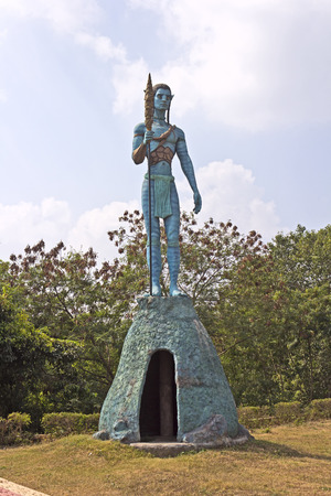 sully: INDIA - Sculpture of Jake Sully, character of the popular science fiction movie Avatar in Avatar Park