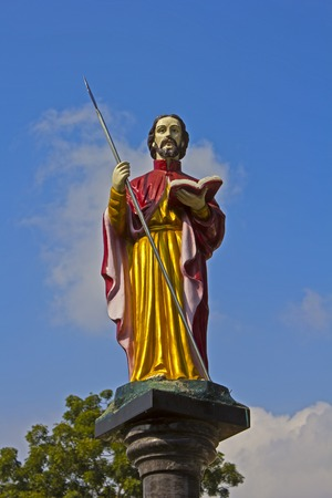 Madras: Sculpture of the saint apostle Thomas Stock Photo