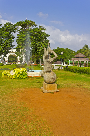 JAN 30, 2015, CHENNAI, TAMIL NADU, INDIA - Park of Perarignar Anna. Anna (1909-1969) was the first Premier Minister of Tamil Nadu Editorial