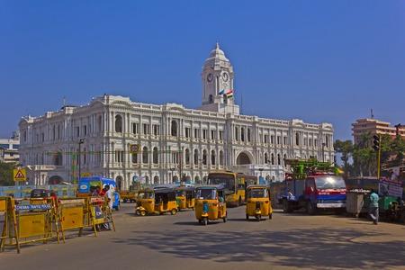 Madras: JAN 29, 2015, CHENNAI, TAMIL NADU, INDIA - Ripon Building in the central part of Chennai and. Ripon Building is the headquaters of the state government