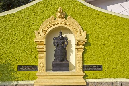 andhra: JAN 31, 2015, TIRUPATI, ANDHRA PRADESH, INDIA - Deity of Kurma or Tortoise avatar at the entry of the Tirupati Venkateshwara zoo. This avatar interpretates as the second step of evolution