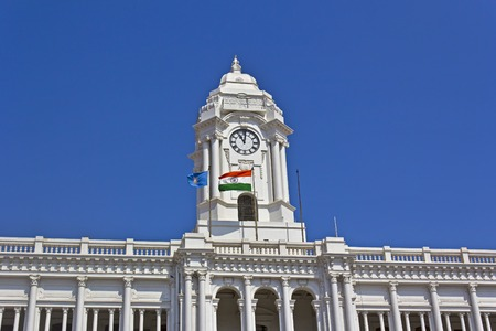 headquaters: JAN 29, 2015, CHENNAI, TAMIL NADU, INDIA - Detail of the Ripon Building. Ripon Building is the headquaters of the state government Editorial