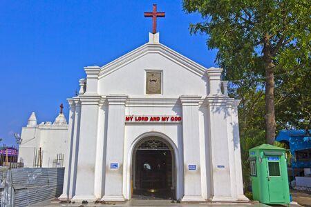 thomas: JAN 29, 2014, ST. THOMAS MOUNTAIN, CHENNAI, TAMIL NADU, INDIA -  Famous st. fpostle Thomas church on the top of Thomas mountain
