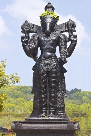andhra: FEBRUARY 1, 2015, TIRUMALA, ANDHRA PRADESH, INDIA - Sculpture of Varaha Dev in the Narayanagiri Gardens, Tirumala