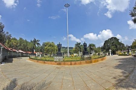 FEBRUARY 1, 2015, TIRUMALA, ANDHRA PRADESH, INDIA - Narayanagiri (Mountain of Vishnu) Gardens on the top of the sacred mountain Tirumala