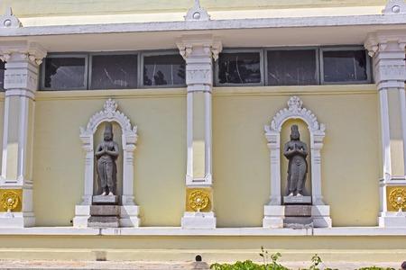 andhra: FEBRUARY 1, 2015, TIRUMALA, ANDHRA PRADESH, INDIA - Sculptures of Pei and Tirumalisai Alwars at the Shri Venkateshwar museum. Alvars were twelve religious medieval poets Editorial