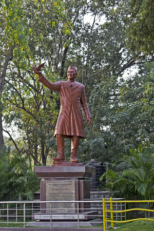 FEB 02, 2015, HYDERABAD, INDIA - Jawaharlal Nehru monument in the JN Zoo