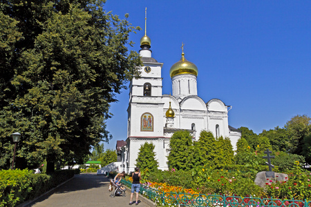 boris: AUGUST 12, 2015, DMITROV, MOSCOW AREA, RUSSIA - Cathedral of the sts Boris and Gleb in the Borisoglebsky monastery