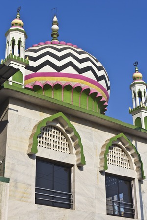 monotheism: Detail (dome) of Hazrat Mulla Sheikh Wali Urf mosque in Nashik, Maharashtra, India