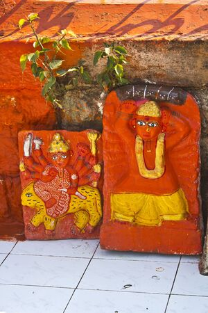 shakti: FEB 6, 2015, NASHIK, INDIA -  Shrine of the Divine Mother Durga at Panchavati area Editorial