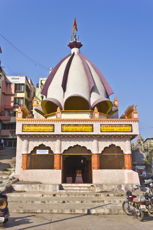 samadhi: FEB 6, 2015, NASHIK, INDIA -  Samadhi, mausoleum of three famous Hindu gurus at Panchavati area