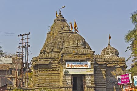 vishnu: FEB 6, 2015, NASHIK, INDIA -  Sundara Nasrayana mandir or Temple of the Beautiful Vishnu