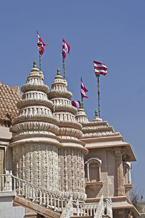 dome of hindu temple: Detail of dome of a Hindu temple in Dwarka, Gujarat Stock Photo
