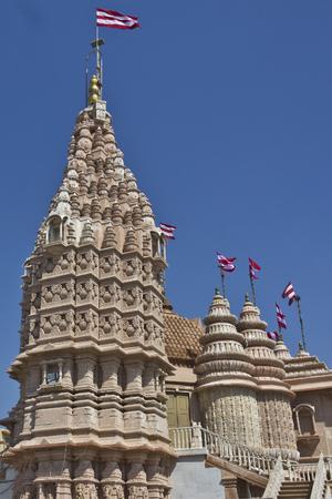 gujarat: Hindu temple in Dwarka, Gujarat, western India Stock Photo
